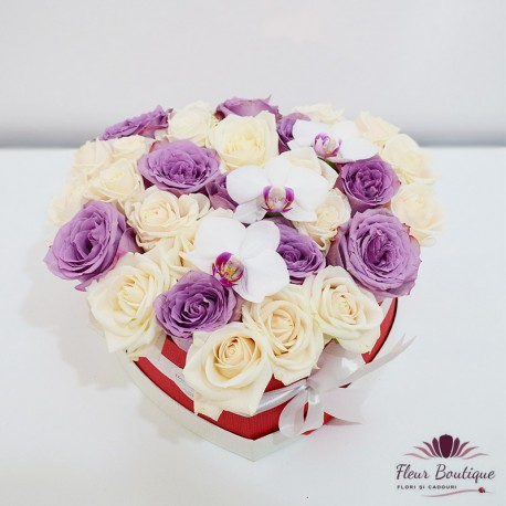 """Cutie cu flori 29 trandafiri """" Flowers for you"""""""