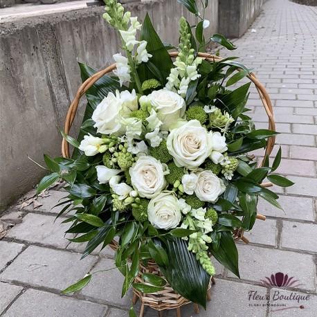 Jerba funerara trandafiri si frezii