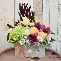 aranjament floral vintage