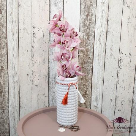 "Cadou floral "" Orhidee Cymbidium"" in vaza"