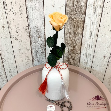 "Cadou floral ""Trandafir stabilizat"""