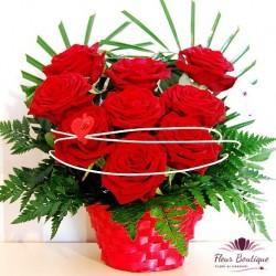 Cos cu trandafiri CF006
