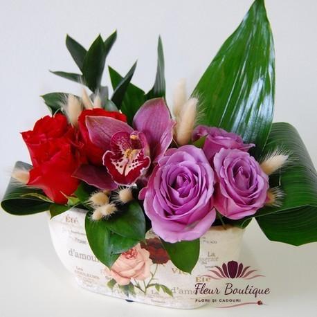 Aranjament floral vintage AF002