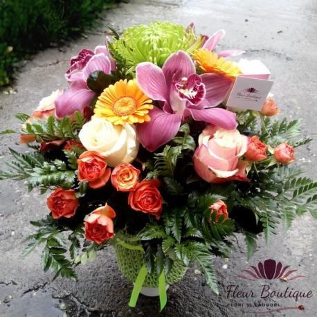 Aranjament floral multicolor AF10