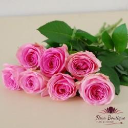 Buchet 7 trandafiri roz