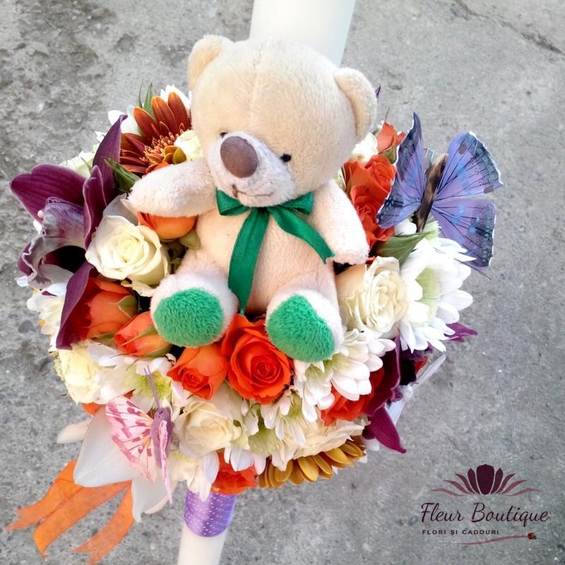 Lumanare Botez Lb004 Florarie Online Flori In Iasi Flori