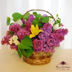 Cos cu flori de mai ( liliac ) CF015