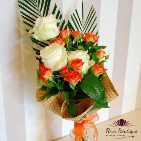 Buchet flori roses BF026