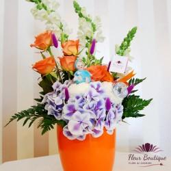 Aranjament floral mamici fericite AF12