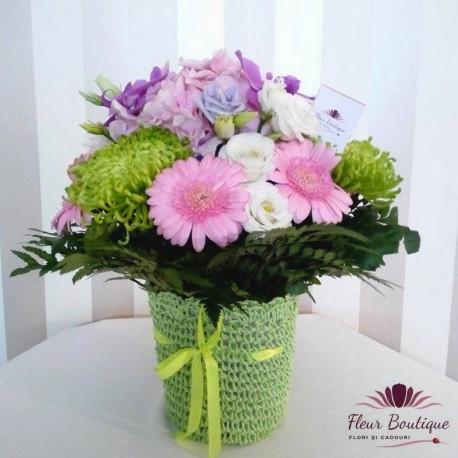 Aranjament floral diafan AF014