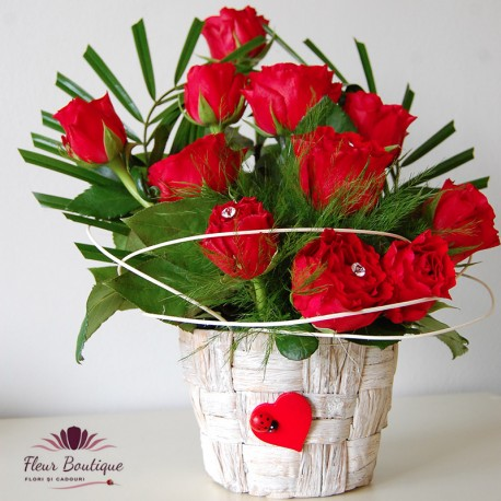 Cos de trandafiri CF002