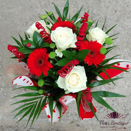 Aranjament floral Red & White AF016