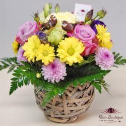 Cos floral trandafiri si crizanteme CF046