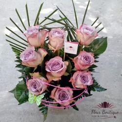 Cos floral 9 Trandafiri CF050