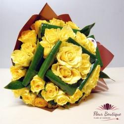 Buchet 33 trandafiri galbeni BF063