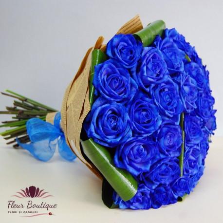 Buchet 31 trandafiri albastri BF045