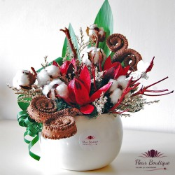 Aranjament floral stabilizat Flori de Bumbac AFS002