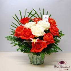 Cos 11 trandafiri CF052
