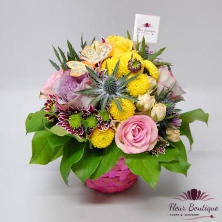 Cos floral FUCSIA CF064