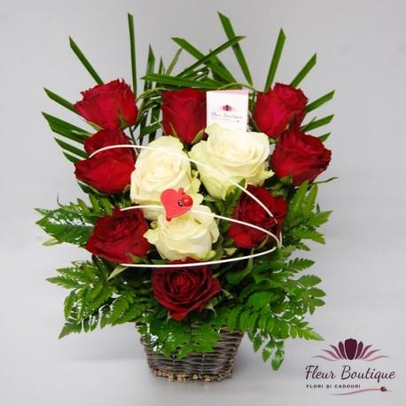 Cos floral Inima CF055