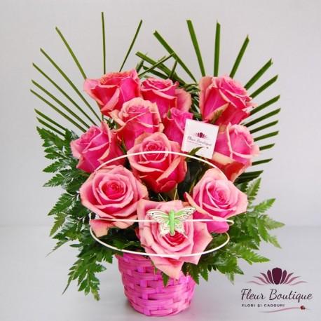 Cos trandafiri Violet Rose CF057