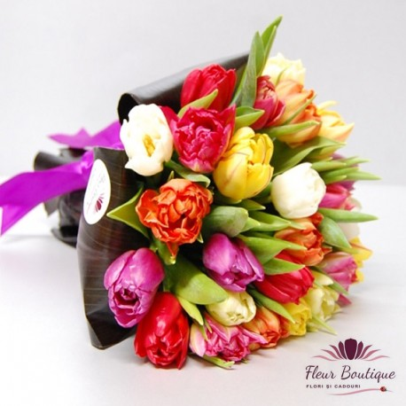 Buchet 25 lalele Springtime Tulips