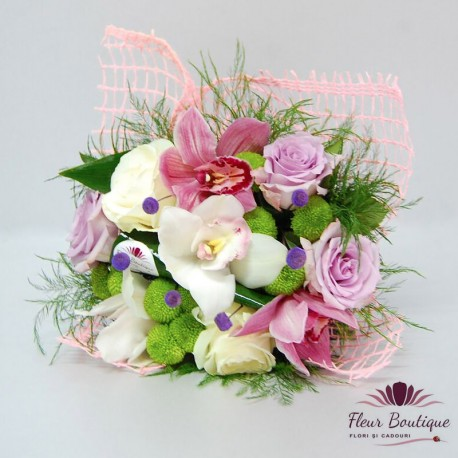 Buchet flori Orchid Rose BF048