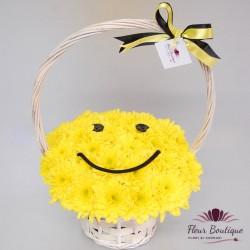 """Cos flori """"Smiley Face"""" CF066"""