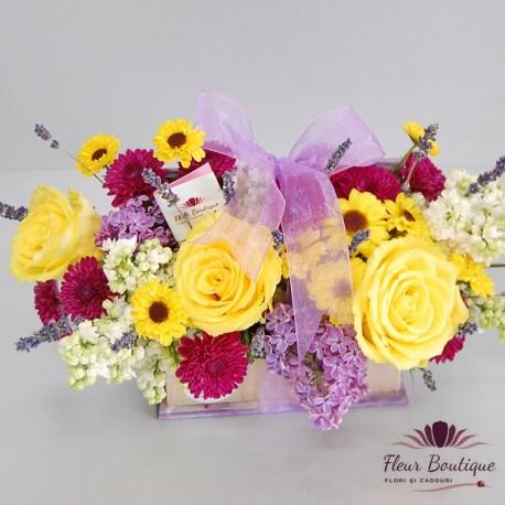 Cutie flori de liliac CF006