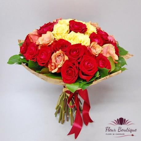 Buchet 35 trandafiri BF071