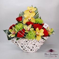 Cos floral trandafiri, cymbidium si crizanteme CF007