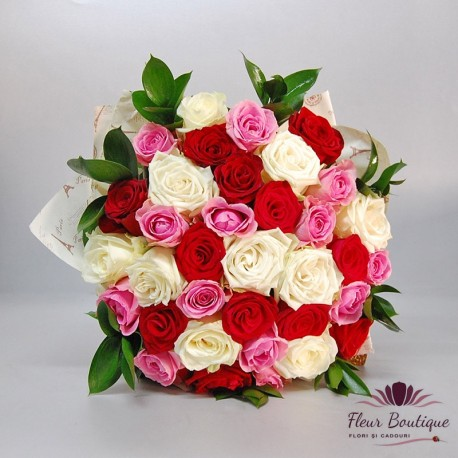 Buchet 35 trandafiri Revival BF079
