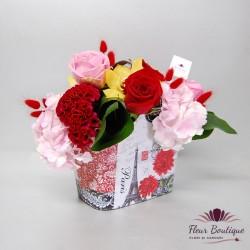 Poseta cu flori colorate CTF020