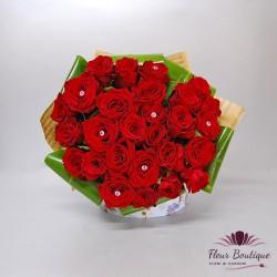 Buchet 29 trandafiri rosii BF083