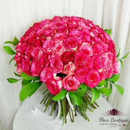 Buchet 101 trandafiri Passion in Pink BF085