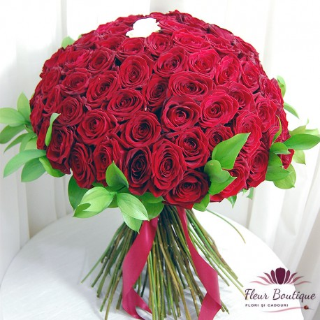 Buchet 101 trandafiri White One BF086