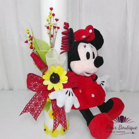 Lumanare botez Minnie Mouse LB012