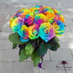 Buchet trandafiri Rainbow BF090