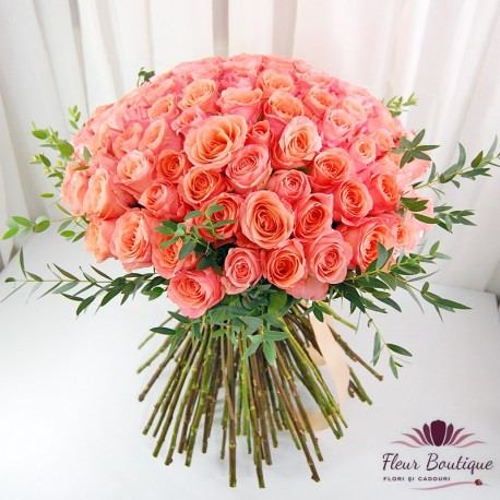 Buchet 101 trandafiri roz BF092