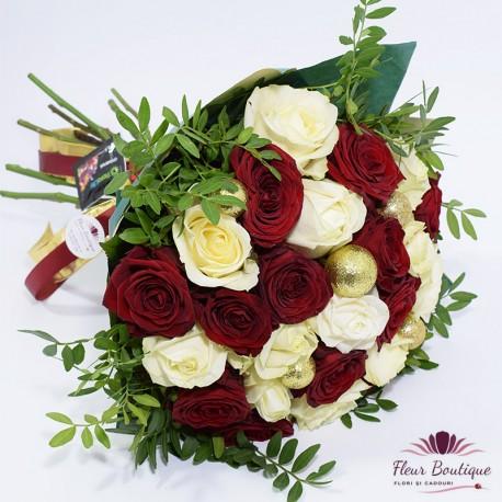 Buchet 27 trandafiri Festiv