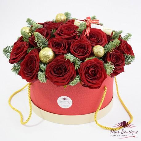 Cutie 25 trandafiri rosii Red Roses