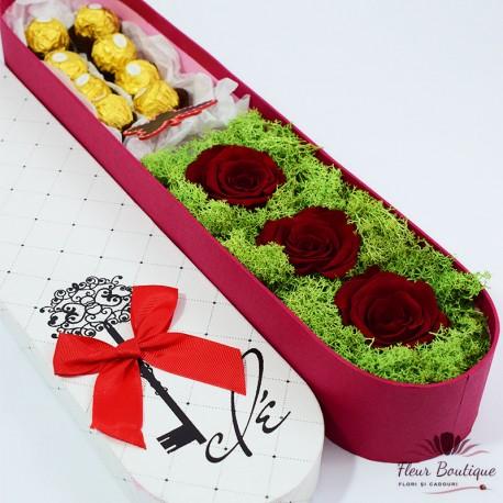 """Aranjament floral """"Je t'aime"""""""